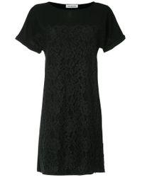 Han Ahn Soon - Black Lace Detail T-shirt Dress - Lyst