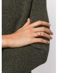 Delfina Delettrez - Metallic Evil Eye Ring - Lyst