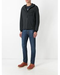 Woolrich - Black Hooded Jacket for Men - Lyst