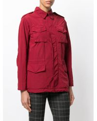 Aspesi - Red Cargo Field Jacket - Lyst