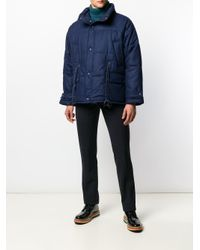 Herno - Blue Quilted Short Parka for Men - Lyst