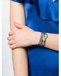 BVLGARI - Metallic Double Wrap Bracelet - Lyst