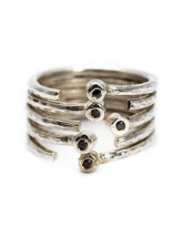 Henson - Metallic Multiband Ring - Lyst