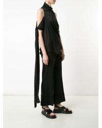 Ellery - Black 'the Lizzies' Drape Top - Lyst