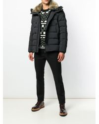 Peuterey - Black Hooded Padded Jacket for Men - Lyst
