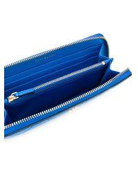 Tory Burch - Blue Zip Around Wallet - Lyst