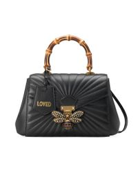 Gucci - Black Queen Margaret Quilted Leather Top Handle Bag - Lyst