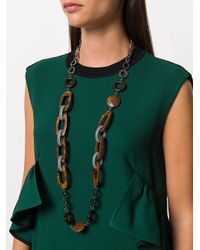 Max Mara - Brown Chain Necklace - Lyst