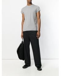 Rick Owens Drkshdw - Gray Round Neck T-shirt for Men - Lyst