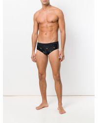 Neil Barrett - Black Firearm Print Swim Trunks for Men - Lyst