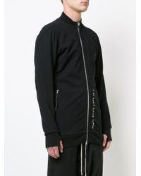 Boris Bidjan Saberi 11 Black Logo Detail Zipped Hoody for men