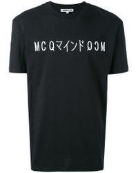 McQ Alexander McQueen - Black Printed T-shirt for Men - Lyst