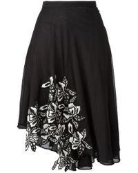 N°21 - Black Asymmetric Skirt - Lyst
