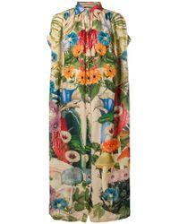 Carolina K - Green Scared Plants Tent Shirt Dress - Lyst