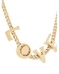 Chloé - Metallic 'love' Necklace - Lyst