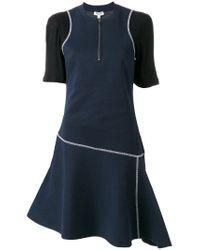 KENZO - Blue Exposed Seam Dress - Lyst