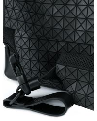 Bao Bao Issey Miyake Black Geometric Pattern Shoulder Bag for men