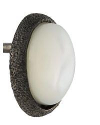 Carolina Bucci - Metallic Oval Pearl Stud Earrings - Lyst
