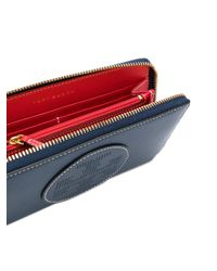 Tory Burch - Blue Zip Wallet - Lyst