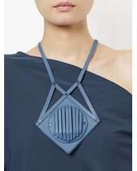 Papieta - Blue Geometric Necklace - Lyst