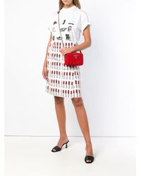 Prada - Red Diagramme Cross-body Bag - Lyst