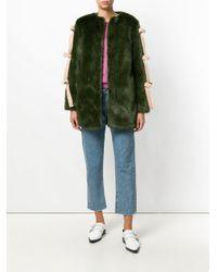 Shrimps   Green Elsie Faux Fur Coat   Lyst