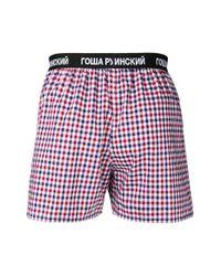 Gosha Rubchinskiy - Red Checked Boxer Shorts for Men - Lyst