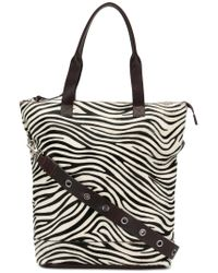 P.A.R.O.S.H. - Brown Zebra Panel Shopper Tote - Lyst