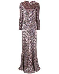 Ashish - Multicolor Chevron Sequinned Dress - Lyst