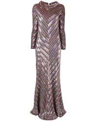 Ashish | Multicolor Chevron Sequinned Dress | Lyst
