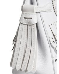 Burberry - White Small Banner Tote - Lyst