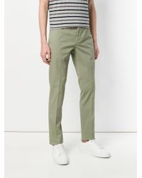 Incotex - Green Straight-leg Chinos for Men - Lyst