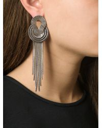 Lara Bohinc | Metallic 'saturn' Earrings | Lyst