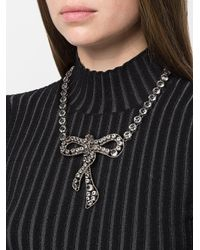 Ermanno Scervino - Metallic Bow Necklace - Lyst