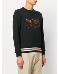 COACH Black Rexy And Carriage Sweatshirt for men
