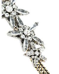 Rada' - Metallic Gemstone Star Embellished Choker Necklace - Lyst