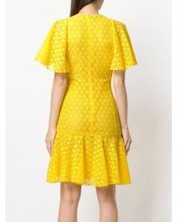 Giambattista Valli - Yellow Embroidered Lace Dress - Lyst