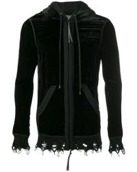 Di Liborio | Black Velvet Sweater for Men | Lyst