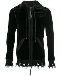 Di Liborio - Black Velvet Sweater for Men - Lyst