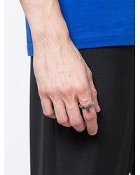 Henson - Metallic Antique-effect Ring for Men - Lyst