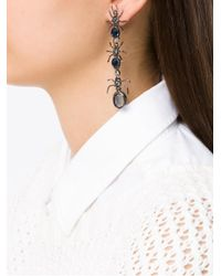 Camila Klein - Metallic Longo Formigas Earrings - Lyst
