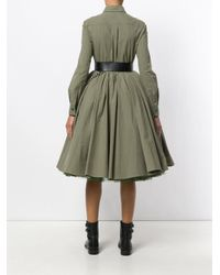 Moschino - Green Flared Military Shirt Dress - Lyst