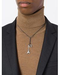 Maison Margiela | Gray Star And Horseshoe Necklace for Men | Lyst