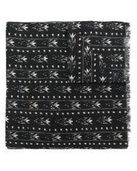 Saint Laurent - Black Ikat Scarf for Men - Lyst