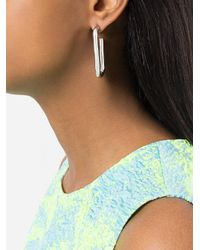 Pamela Love - Metallic Deconstructed Hoop Earrings - Lyst