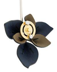 Marni - Blue Collana Con Pendente Motivo Petali - Lyst