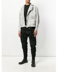 Julius - White Distressed Biker Denim Jacket for Men - Lyst