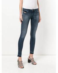 DIESEL - Blue Mid-rise Skinny Jeans - Lyst