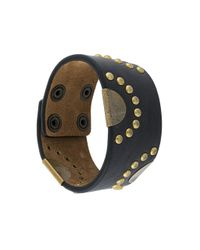 DSquared² - Black Studded Cuff Bracelet for Men - Lyst