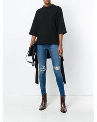 Rag & Bone Blue Distressed Skinny Jeans